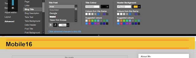 Editing Title Colour