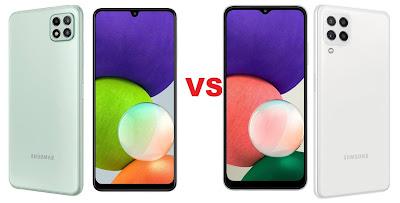 مقارنة بين Samsung Galaxy A22 5G و Galaxy A22 4G