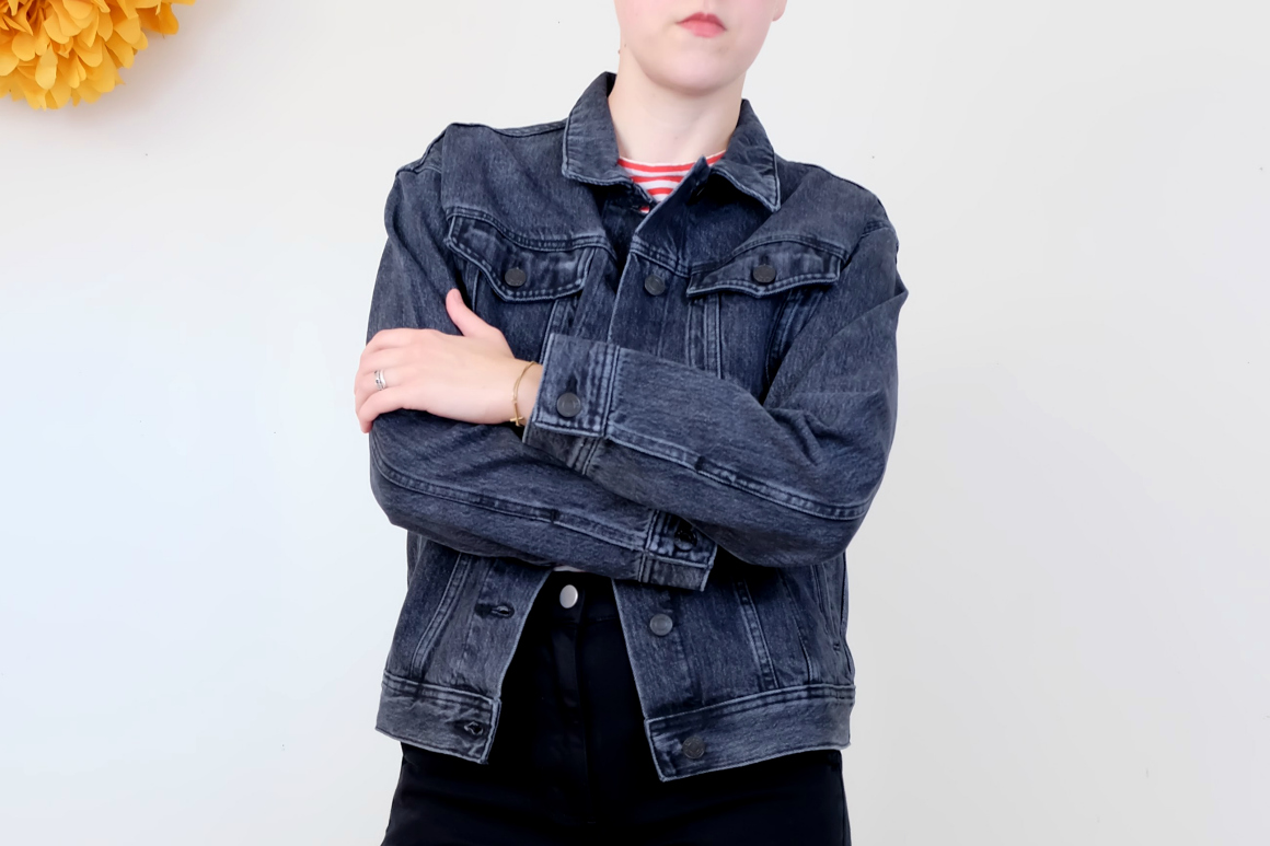 Everlane head to toe Everlane Denim Jacket in Washed Black review
