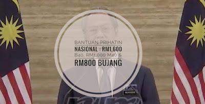 Bantuan Prihatin Nasional - RM1,600 B40, RM1,000 B40 & RM800 Bujang