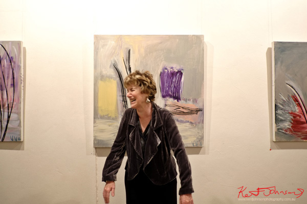 Vicki Varvaressos at Watters Gallery, Street Fashion Sydney by Kent Johnson.