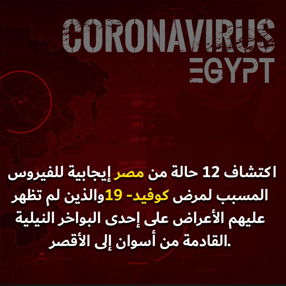 فيروس كورونا يصل مصر