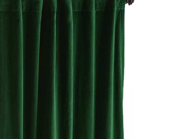 Emerald Green Velvet Curtain, Green Velvet Curtains, Cotton Velvet, Custom curtains, Bespoke Curtains