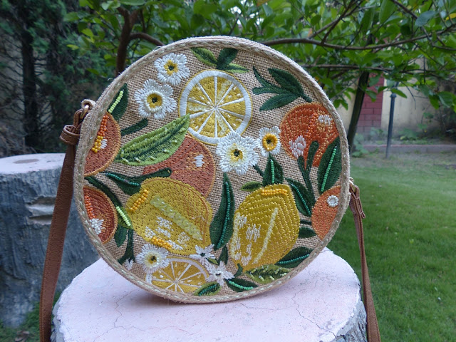 embroidered round bag from Accessorize