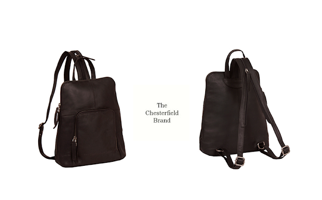 Womens City Leather Backpack Handbag Brown 'Ivy' - Combined