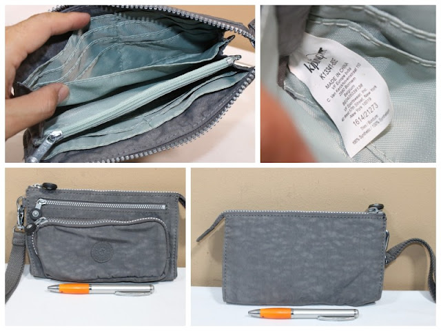 KIPLING GREY WRISTLET Material   Nylon Size   20 X 12. NEW WITHOUT TAG. y  pric e  Rp. 650.000 0d3efbb78e