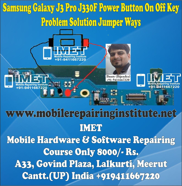 Samsung Galaxy J3 Pro J330F Power Button On Off Key Problem Solution Jumper Ways