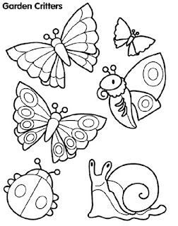 Animals At Garden Coloring Pages
