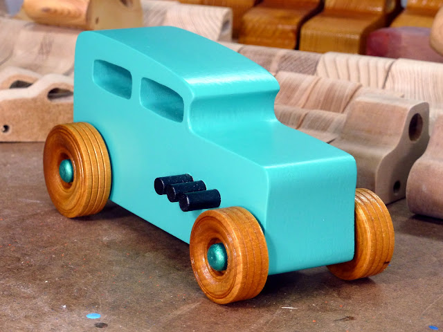 20170521-152425 Etsy - Wooden Toy Car - Hot Rod Freaky Ford - 32 Sedan - MDF - Air Brushed Acrlyic