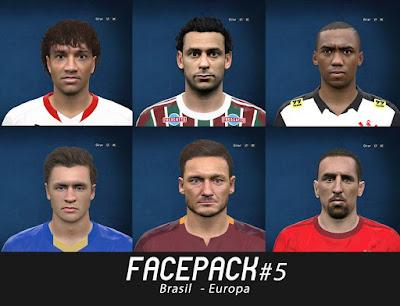 Facepack #5 Brasil - Europa