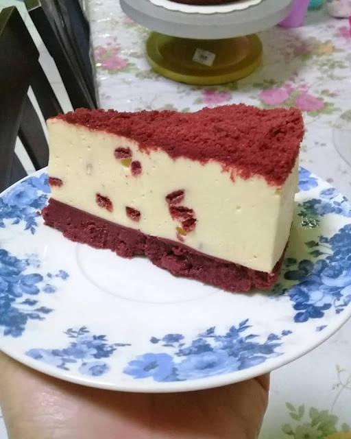 resepi no bake red velvet cheese cake