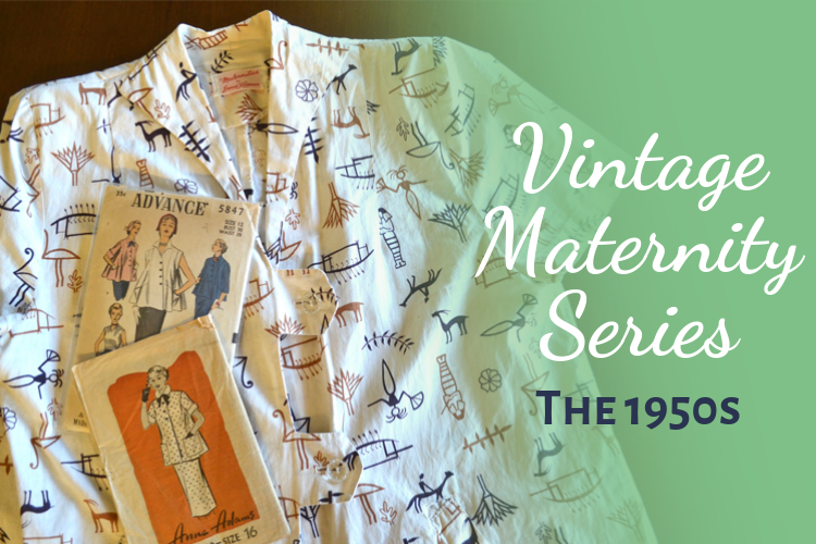 1950s Vintage Maternity fashion style