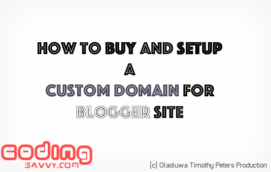 How to buy and Setup a Custom Domain Through Blogger in 2 minutes