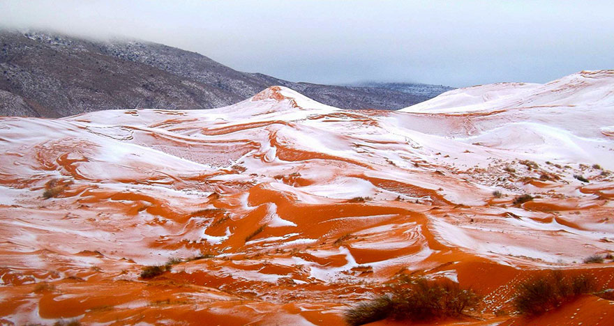 Breath-Taking Pictures Of Snow In Sahara For The First Time In 37 Years