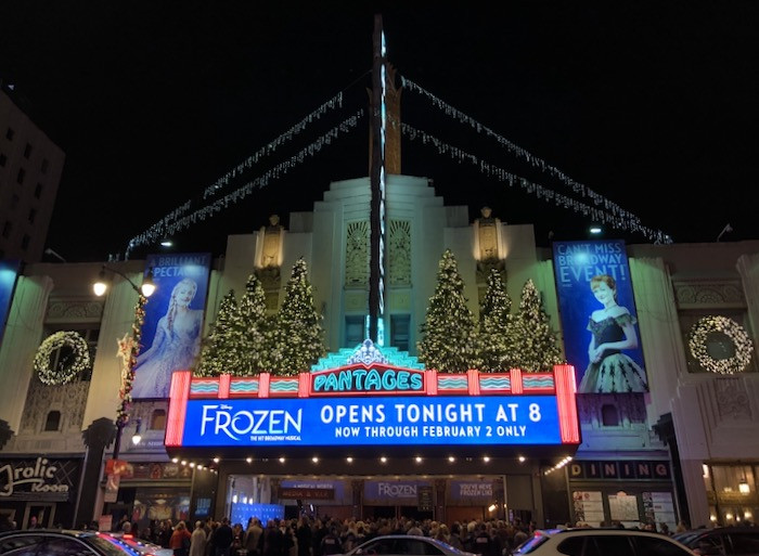 Frozen musical Hollywood Pantages Theatre