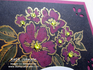 Hand-Penned Petals gold embossed on black and colored with watercolor pencils. Inspired by Norwegian Bunads