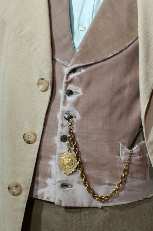 Michael Sheen Good Omens Aziraphale costume detail