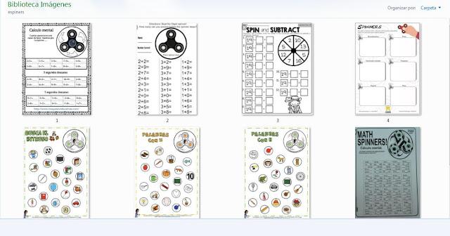 spinners,matematicas,juegos,niños,aula