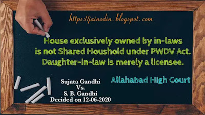 Daughter-in-law is merely a licensee in house owned by in-laws