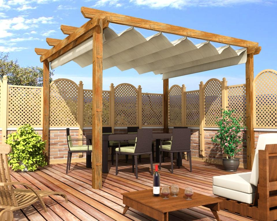 prgolas y jardines decoracin de exteriores - Techos Para Pergolas
