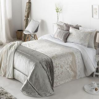 Colcha Bouti modelo Camelia color Beige de Antilo Textil