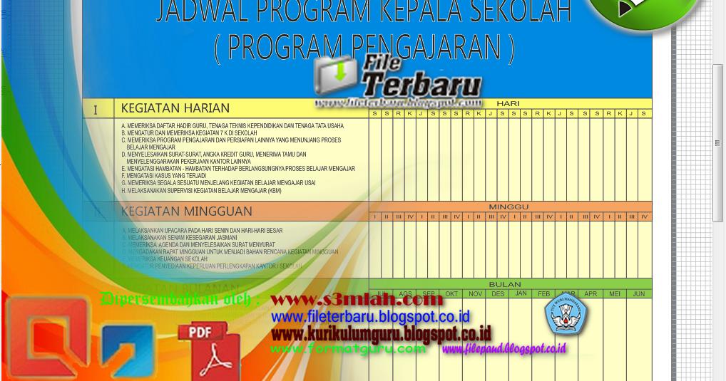 Download Format Papan Data Sekolah Program Kepala Sekolah File Terbaru