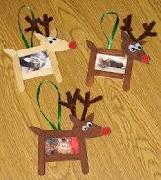portaretratos de renos para navidad con palitos de helados