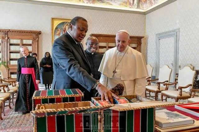President Uhuru Kenyatta began his official visitation to the State of the Vatican City