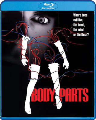 Cover art for Scream Factory's Blu-ray of Eric Red's BODY PARTS.