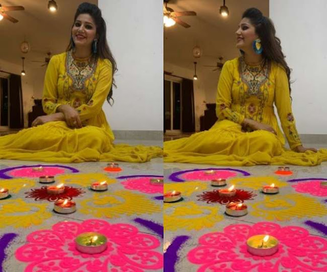 Sapna Choudhary Diwali Photos 2019