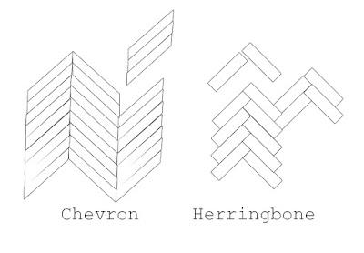 difference between chevron and herringbone flooring