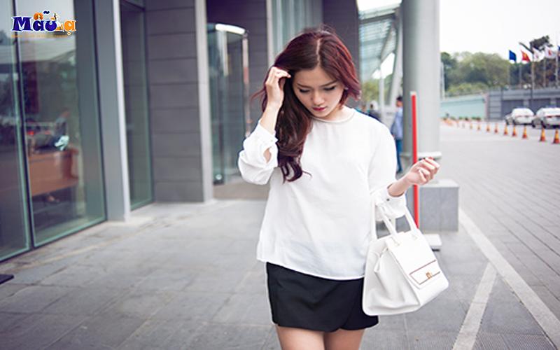 Những kinh nghiệm cho bạn nữ khi mặc áo sơ mi trắng
