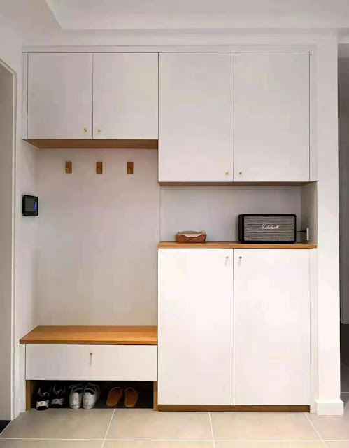 The design of the entry cabinet, shoe bench + shoe cabinet, no matter how many years of use