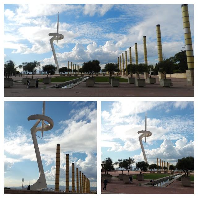 Anella Olimpica e Torre de Calatrava - Barcelona
