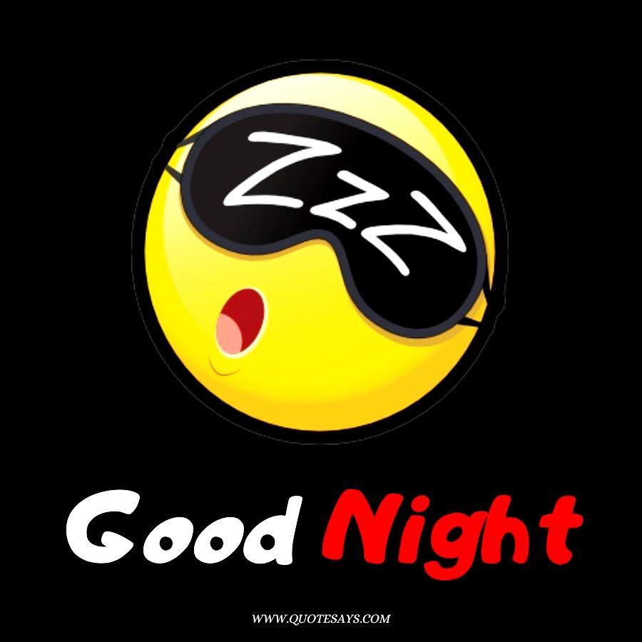 Good Night With Sleeping Emoji