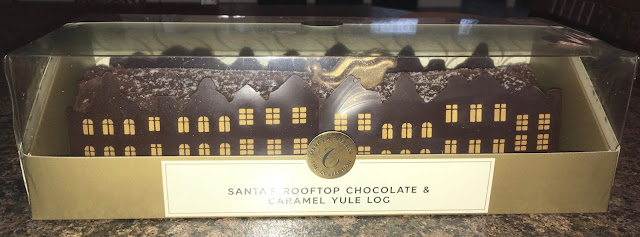 Santa's Rooftop Chocolate and Caramel Yule Log Marks & Spencer