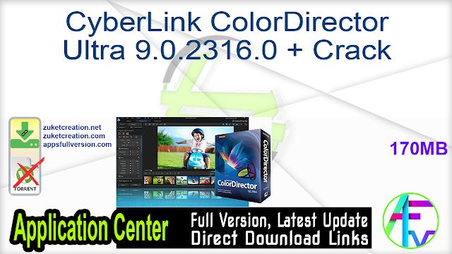 CyberLink ColorDirector Ultra 9.0.2316.0 + Crack