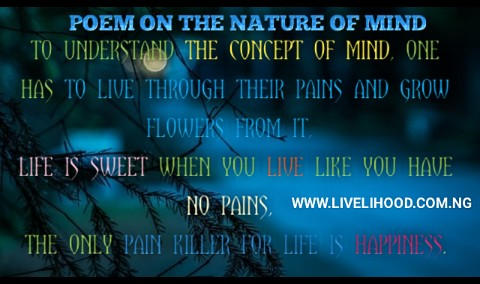 Poem on nature of the mind