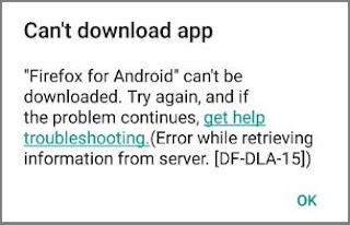Cara Mengatasi Play Store Error DF-DLA-15 Saat Download Aplikasi