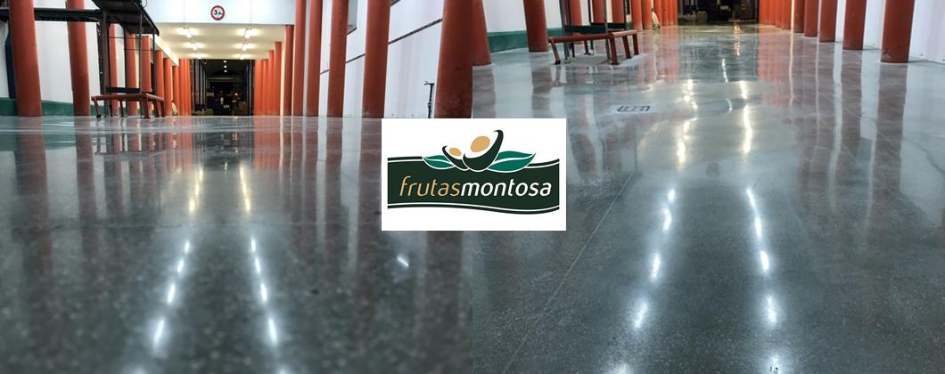 Hormigón impreso y pulido en Frutas Montosa