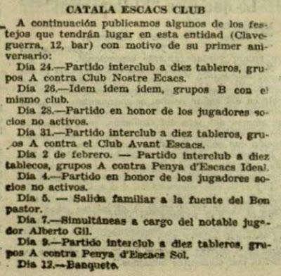 Recorte de El Diluvio, 22/1/1933