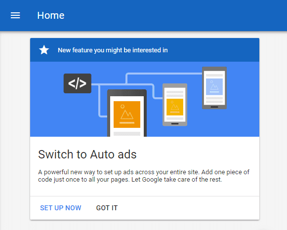 cara memasang auto ads adsense