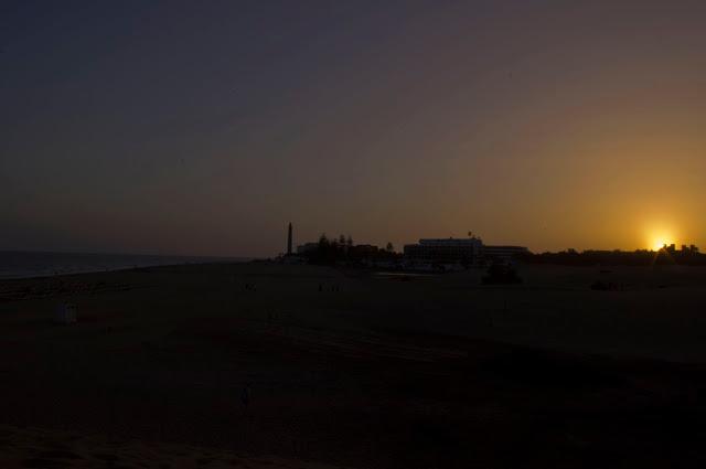Gran Canaria, Bahia Feliz, zachód słońca, wakacje, piękny widok