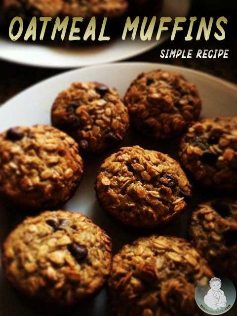 oatmeal muffins banana; oatmeal muffins with banana; Recipe oatmeal muffins; recipe banana oatmeal muffins; Oatmeal muffins; healthy oatmeal muffins; oatmeal muffins recipe;