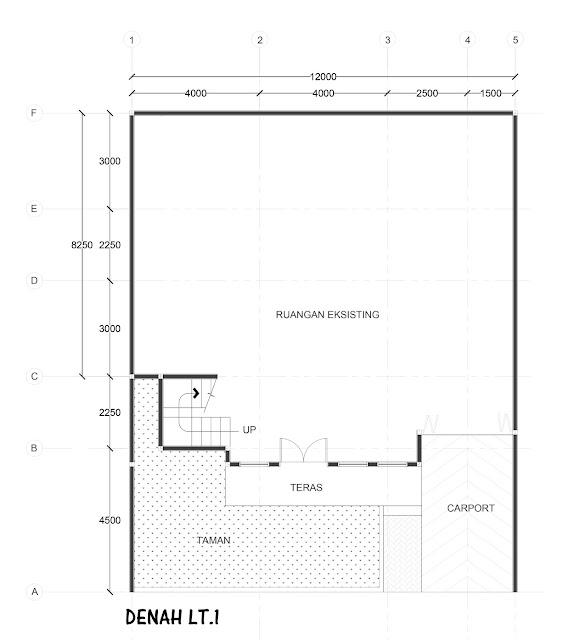 denah lt1 - renovasi rumah tangerang