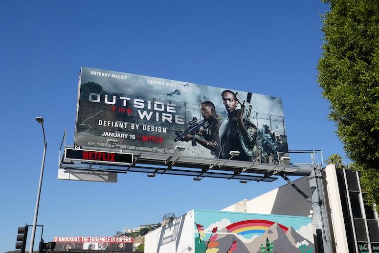 Outside the Wire film billboard