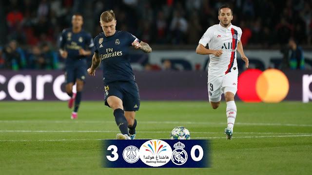 باريس سان جيرمان الفرنسي يحقق فوزاً مستحقاً على ضيفه ريال مدريد الإسباني بثلاثية نظيفة