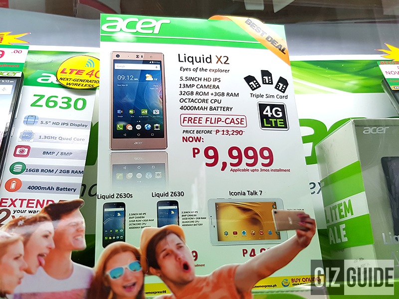 Acer's Liquid X2 on sale at Memoxpress with FREE flip case