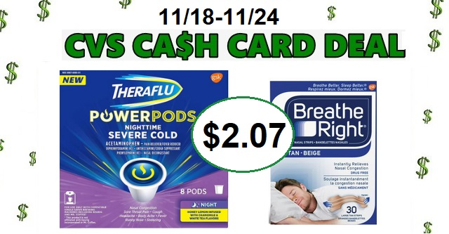 theraflu powerpods or breath right strips  2 07 at cvs