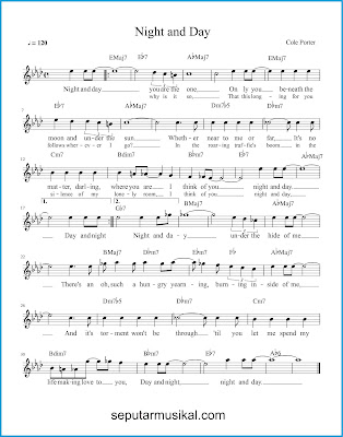 Night And Day chords jazz standar